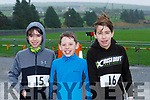 Mark Lane, Darragh Cahill and David Lane at the Brosna 4km run on Sunday