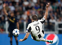 Football Soccer: UEFA Champions League semifinal second leg Juventus - Monaco, Juventus stadium, Turin, Italy,  May 9, 2017. <br /> Juventus' Gonzalo Higuain in action during the Uefa Champions League football match between Juventus and Monaco at Juventus stadium, on May 9, 2017.<br /> UPDATE IMAGES PRESS/Isabella Bonotto
