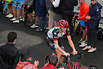 Matej Mohoric (SLO) UAE Team Emirates shows signs of a crash during Stage 17 of the 2017 La Vuelta, running 180.5km from Villadiego to Los Machucos. Monumento Vaca Pasiega, Spain. 6th September 2017.<br /> Picture: Unipublic/&copy;photogomezsport   Cyclefile<br /> <br /> <br /> All photos usage must carry mandatory copyright credit (&copy; Cyclefile   Unipublic/&copy;photogomezsport)