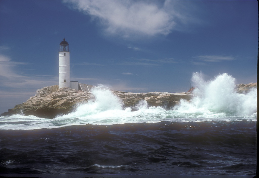 PIcturesque White Island with its lighthouse is now a New Hampshire state park. The island is one of the nine Isles of Shoals. Photograph by Peter E. Randall