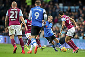 4th November 2017, Villa Park, Birmingham, England; EFL Championship football, Aston Villa versus Sheffield Wednesday; Barry Bannan of Sheffield Wednesday works the ball out of a tight space