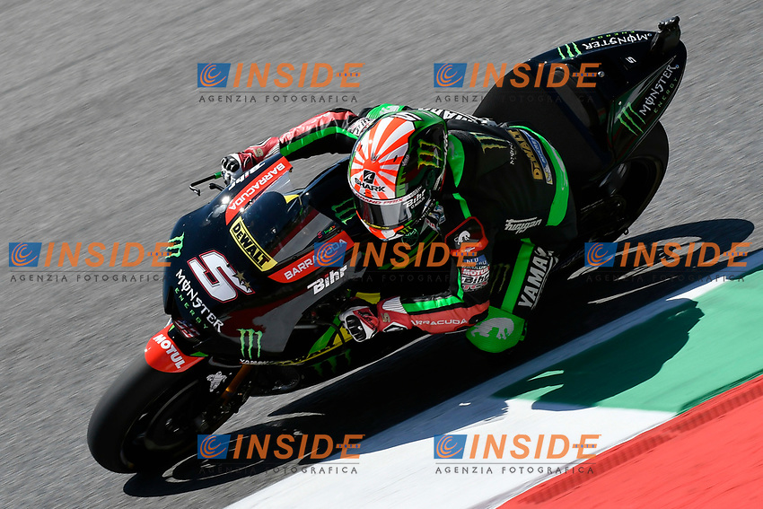 SCARPERIA,FLORENCE, ITALY - JUNE 02:,2017 Johann Zarco of France and Monster Yamaha Tech 3 drive his bike in Free Practice MotoGP Gran Premio d'Italia- at Mugello Circuit. on june 02, 2017 in Scarperia Italy.<br /> Photo Marco Iorio/Insidefoto
