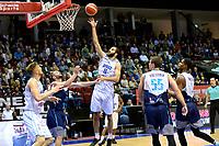 GRONINGEN - Basketbal, Donar - Pristina, voorronde Champions League, seizoen 2018-2019, 22-09-2018,  Donar speler Shane Hammink op weg naar score