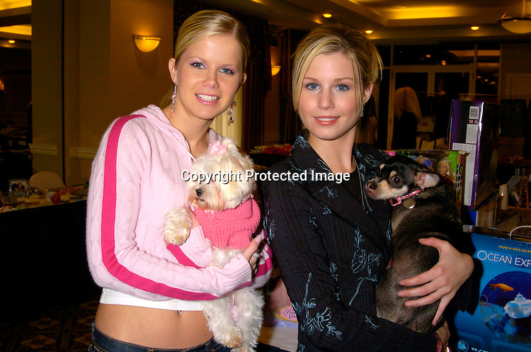 """Crystal Hunt and Stephanie Gatschet ..at the  37th Annual  """"Going Home""""  Luncheon for Animal Haven on October 17, 2004 at the Sheraton LaGuardia East...Photo by Robin Platzer, Twin Images"""