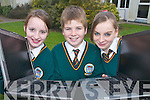 COMPUTERS: Katie Kelly, Glenbeigh, Devon Pengelly, Killorglin, and Arlene Teahan, Glenbeigh, 1st year students from Killorglin Community College who are starting a Laptop initiative.