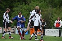 VOETBAL: SURHUISTERVEEN: Sportpark 't Ketting, 12-05-2012, Zaterdag 2e Klasse I, vv 't Fean '58 - SDS, Eindstand 2-1, Imani Mchimbwa (#7) scoort de gelijkmaker namens vv 't Fean '58, ©foto Martin de Jong