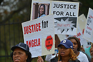 October 25, 2012  (Washington, DC)  Protestors in support of ousted Gallaudet University Diversity Officer Angela McCaskill rally in front of the University.   (Photo by Don Baxter/Media Images International)