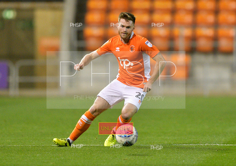 17/10/2017 Sky Bet League 1 Blackpool v Bury<br /> <br /> Ollie Turton, Blackpool FC