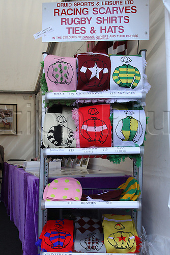 09.04.2016. Aintree, Liverpool, England. Crabbies Grand National Festival Day 3. Racing merchandise on sale.