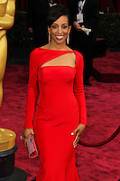 HOLLYWOOD, LOS ANGELES, CA, USA - MARCH 02: Shaun Robinson at the 86th Annual Academy Awards held at Dolby Theatre on March 2, 2014 in Hollywood, Los Angeles, California, United States. (Photo by Xavier Collin/Celebrity Monitor)