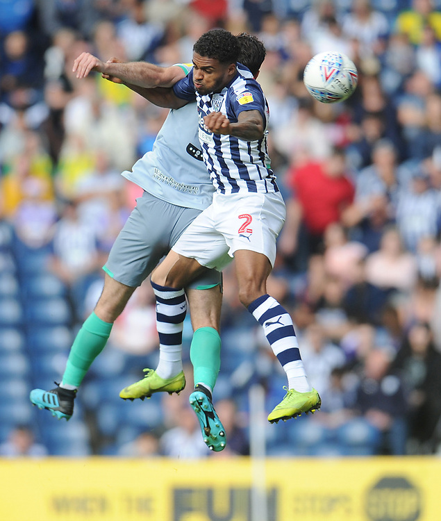 West Bromwich Albion's Darnell Furlong vies for possession with Blackburn Rovers' Greg Cunningham<br /> <br /> Photographer Kevin Barnes/CameraSport<br /> <br /> The EFL Sky Bet Championship - West Bromwich Albion v Blackburn Rovers - Saturday 31st August 2019 - The Hawthorns - West Bromwich<br /> <br /> World Copyright © 2019 CameraSport. All rights reserved. 43 Linden Ave. Countesthorpe. Leicester. England. LE8 5PG - Tel: +44 (0) 116 277 4147 - admin@camerasport.com - www.camerasport.com