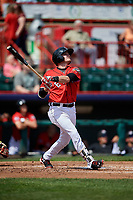 Erie SeaWolves third baseman Kody Eaves (22) follows through on a swing during a game against the Reading Fightin Phils on May 18, 2017 at UPMC Park in Erie, Pennsylvania.  Reading defeated Erie 8-3.  (Mike Janes/Four Seam Images)