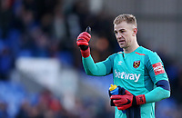 West Ham United's Joe Hart<br /> <br /> Photographer Rob Newell/CameraSport<br /> <br /> The Emirates FA Cup Third Round - Shrewsbury Town v West Ham United - Sunday 7th January 2018 - New Meadow - Shrewsbury<br />  <br /> World Copyright &copy; 2018 CameraSport. All rights reserved. 43 Linden Ave. Countesthorpe. Leicester. England. LE8 5PG - Tel: +44 (0) 116 277 4147 - admin@camerasport.com - www.camerasport.com