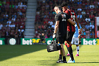 Philip Billing of AFC Bournemouth leaves the field injured during AFC Bournemouth vs Manchester City, Premier League Football at the Vitality Stadium on 25th August 2019