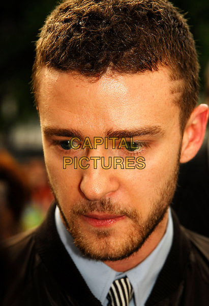 "JUSTIN TIMBERLAKE.Attending the UK Premiere of ""Shrek The Third"",.Odeon Leicester Square, London, England,.June 11th 2007..portrait headshot beard  looking down.CAP/IA.©Ian Allis/Capital Pictures"