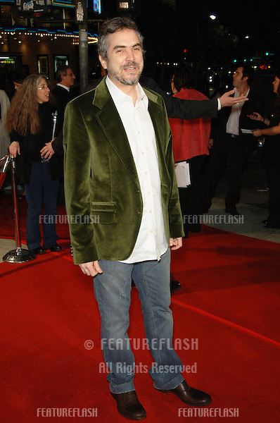 "Director Alfonso Cuaron at the Los Angeles premiere of his new movie ""Children of Men""..November 16, 2006  Los Angeles, CA.Picture: Paul Smith / Featureflash"
