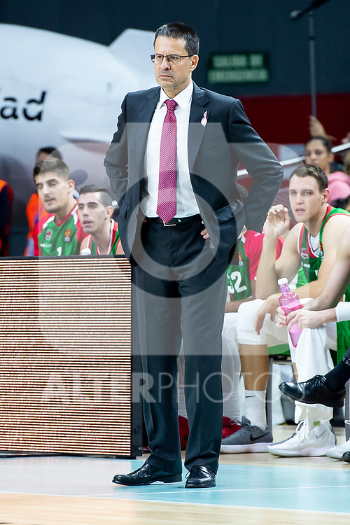 Kirolbet Baskonia coach Pedro Martinez during Turkish Airlines Euroleague match between Real Madrid and Kirolbet Baskonia at Wizink Center in Madrid, Spain. October 19, 2018. (ALTERPHOTOS/Borja B.Hojas)