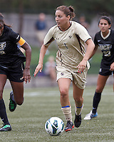 Boston College forward Victoria DiMartino (1) on the attack. After two overtime periods, Boston College tied University of Central Florida, 2-2, at Newton Campus Field, September 9, 2012.