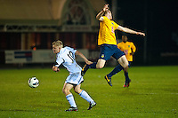 Tuesday 17 December 2013<br /> Pictured:<br /> Re: Swansea City vs Oxford United, FA Youth Cup, Stebonheath, Llanelli, Wales