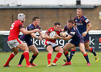 8 December 2016: London Welsh cancelled their B&I Cup match for Saturday 10th December and confirmed on 7th December 2016 that they are to seek voluntary liquidation.  Image shows London Welsh players during the Greene King IPA Championship match between London Scottish Football Club and London Welsh RFC at Richmond Athletic Ground, Richmond, United Kingdom on 10 September 2016. Photo by Carlton Myrie / PRiME Media Images.