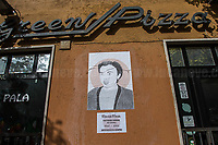"""Marisa Musa (Antifascist Partizan. Member of the Partigiani: the Italian Resistance during WWII).<br /> <br /> Rome, 25/04/2018. Today, to mark the 73rd Anniversary of the Italian Liberation from nazi-fascism ('Liberazione'), ANED Roma & ANPI Roma (National Association of Italian Partizans) held a march ('Corteo') from Garbatella to Piazzale Ostiense where a rally took place attended by Partizans, Veterans and politicians – including the Mayor of Rome and the President of Lazio's Region. FOR THE FULL CAPTIONS PLEASE CHECK """"Photo Stories - 2010 to Today"""" 25.04.2018."""