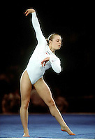 July 26, 1998; New York, NY, USA;  Artistic gymnasts Vanessa Atler of USA performs floor exercise during gala exhibition at 1998 Goodwill Games New York. Copyright 1998 Tom Theobald