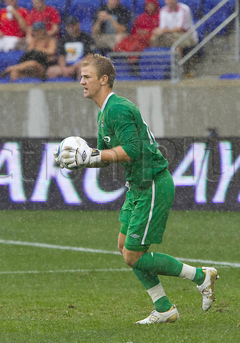 25 JULY 2010:  Manchester City goalkeeper Joe Hart (12) catches ball during friendly match in the Barclays New York Challenge between Manchester City and the New York Red Bulls. New York won the game 2-1.