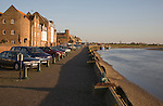 Waterfront quayside buildings at King's Lynn, Norfolk, England