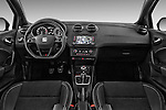 Stock photo of straight dashboard view of 2016 Seat Ibiza-SC Cupra 5 Door Hatchback Dashboard