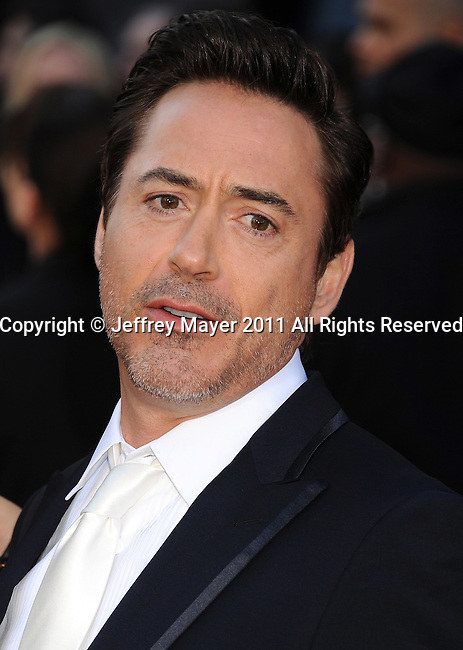 HOLLYWOOD, CA - FEBRUARY 27: Robert Downey Jr. arrives at the 83rd Annual Academy Awards held at the Kodak Theatre on February 27, 2011 in Hollywood, California.