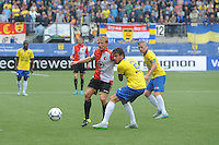 VOETBAL: LEEUWARDEN: 16-08-2015, SC Cambuur - Feyenoord, uitslag 0-2, Dirk Kuyt (#7), Kai Heerings (#2), ©foto Martin de Jong