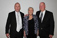 NWA Democrat-Gazette/CARIN SCHOPPMEYER Matt Kendall (from left) and Sarah and Don Kendall attend Art of Hospice where Sarah was presented the Bernice Young Jones Award.
