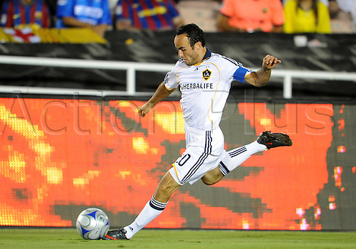 01 August 2009: Galaxy #10 Landon Donovan during an international friendly soccer match between FC Barcelona and the Los Angeles Galaxy at the Rose Bowl in Pasadena, CA.(Photo: Chris Williams/ActionPlus) UK Licenses Only