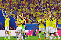 RIO DE JANEIRO - BRASIL -28-06-2014. Jugadores de Colombia (COL) celebran la victoria sobre Uruguay (URU) en partido de los octavos de final por la Copa Mundial de la FIFA Brasil 2014 jugado en el estadio Maracaná de Río de Janeiro./ Players of Colombia (COL) celebrate the victory over Uruguay (URU) in match of the Round of 16 for the 2014 FIFA World Cup Brazil played at Maracana stadium in Rio do Janeiro. Photo: VizzorImage / Alfredo Gutiérrez / Contribuidor