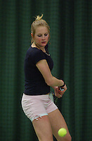10-3-06, Netherlands, tennis, Rotterdam, National indoor junior tennis championchips, Bibianne de Zwart