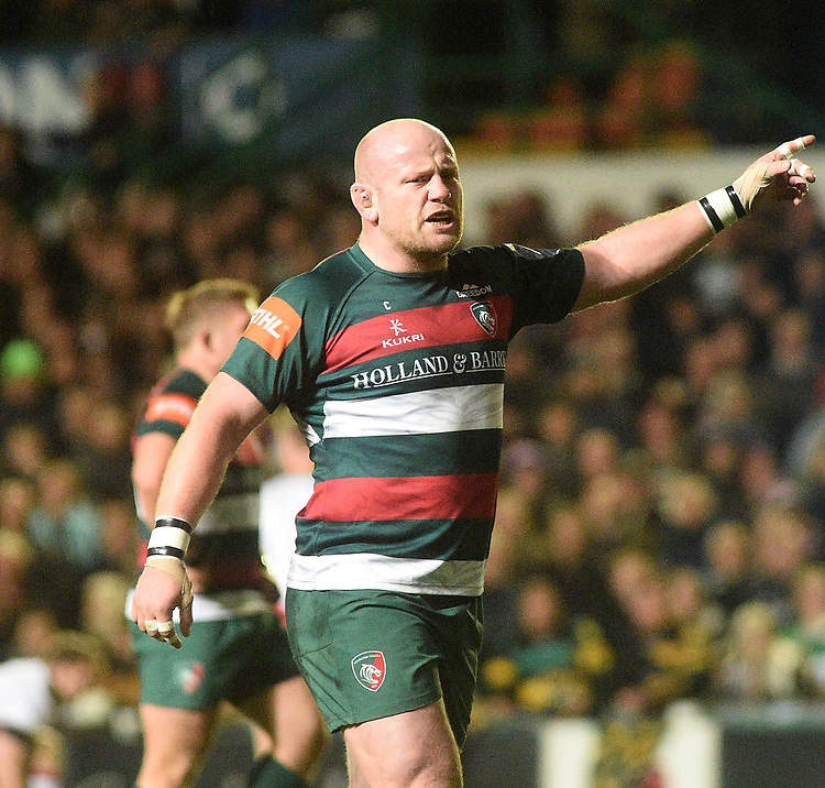 Leicester Tigers' Dan Cole<br /> <br /> Photographer Hannah Fountain/CameraSport<br /> <br /> Gallagher Premiership - Leicester Tigers v Northampton Saints - Friday 22nd March 2019 - Welford Road - Leicester<br /> <br /> World Copyright © 2019 CameraSport. All rights reserved. 43 Linden Ave. Countesthorpe. Leicester. England. LE8 5PG - Tel: +44 (0) 116 277 4147 - admin@camerasport.com - www.camerasport.com