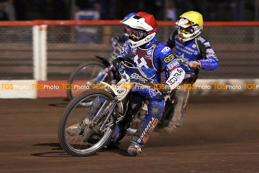 Heat 11: Ryan Fisher (red) and Tomas Topinka - Lakeside Hammers vs King's Lynn Stars - Elite League Speedway at Arena Essex Raceway - 21/05/11 - MANDATORY CREDIT: Gavin Ellis/TGSPHOTO - Self billing applies where appropriate - Tel: 0845 094 6026
