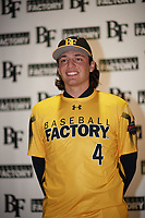 Brett Barrera (4) of Los Osos High School in Etiwanda, California during the Baseball Factory All-America Pre-Season Tournament, powered by Under Armour, on January 12, 2018 at Sloan Park Complex in Mesa, Arizona.  (Zachary Lucy/Four Seam Images)