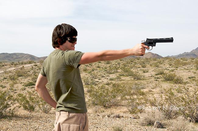 Youth firing Colt Python .357 revolver