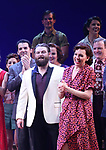 Beath Leavel and cast during the Broadway Opening Night Curtain Call Bows of 'Bandstand' at the Bernard B. Jacobs Theatre on 4/26/2017 in New York City.