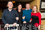 Pictured at No. 4 The Square, Tralee on Saturday night last were Ger and Siobhan Hussey with Norman and Elaine Foley.