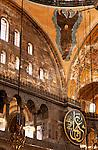 Hagia Sophia Interior 07 - Interior of  Hagia Sophia (Aya Sofya) basilica, Sultanahmet, Istanbul, Turkey