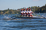 Rowing, Canada, Canadian Women's Quad, Emily Cameron, Peggy DeVos, Isolda Penny, Jane Rumball, stroke, 2010 FISA World Rowing Championships, Lake Karapiro, Hamilton, New Zealand, Heat, Monday, 1 November,