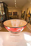 Glass art in Art Bar, city of Tiburon on San Francisco Bay, CA, California.  Appealing community on Marin side with breakfast places, sailboats, outdoor dining, houses with scenic views, views of the Golden Gate, cormorant birdlife, public sculptures, a railroad museum, boutique art shops, and an historic China Cabin building from an ex-ship..Photo camari272-70606..Photo copyright Lee Foster, www.fostertravel.com, 510-549-2202, lee@fostertravel.com.