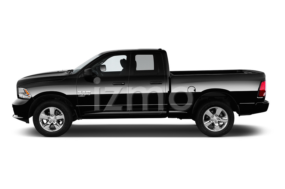 Car driver side profile view of a 2019 Ram RAM-1500-Classic  Express 4 Door Pick Up