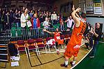 S&ouml;dert&auml;lje 2014-01-03 Basket Basketligan S&ouml;dert&auml;lje Kings - Bor&aring;s Basket :  <br /> Bor&aring;s Wictor Grenthe och Bor&aring;s Christopher Chris McKnight jublar med Bor&aring;s Basket supportrar efter matchen<br /> (Foto: Kenta J&ouml;nsson) Nyckelord:  jubel gl&auml;dje lycka glad happy