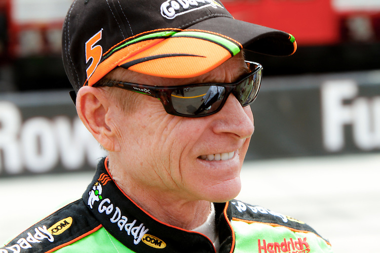 19 June, 2011: Mark Martin walks out to the grid prior to the 43rd Annual Heluva Good! Sour Cream Dips 400 at Michigan International Speedway in Brooklyn, Michigan.