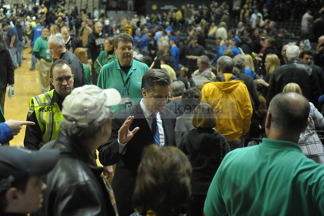 UK head coach John Calipari after winning of the University of Kentucky men's basketball game against Vanderbilt at Memorial Gym in Nashville, Tennessee., on Feb. 11, 2012. UK won 69-63. Photo by Mike Weaver | Staff