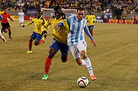 Argentina soccer player federico Mancuello fights for the ball during a friendly match between Argentina and Ecuador in New Jersey. 03.31.2015. Kena Betancur / VIEWpress.