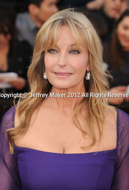 HOLLYWOOD, CA - FEBRUARY 26: Bo Derek arrives at the 84th Annual Academy Awards held at the Hollywood & Highland Center on February 26, 2012 in Hollywood, California.